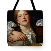 I Know A Maiden Fair To See Tote Bag by Charles Edward Perugini
