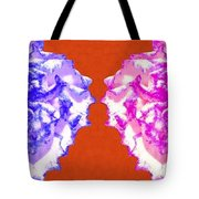 I Love Carnations Collage Tote Bag