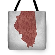 I Love Chicago Illinois - Red Tote Bag