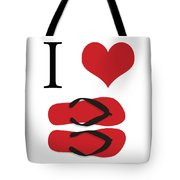 I Love Flip Flops Tote Bag