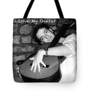 I Love My Guitar Series Bw Tote Bag