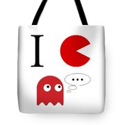 I Love Packman Tote Bag