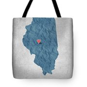 I Love Springfield Illinois - Blue Tote Bag