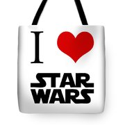 I Love Star Wars Tote Bag