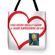 I Love Van Gogh Tote Bag