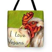 I Love Vegans Tote Bag