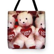 I Love You Bears Tote Bag