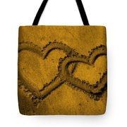 I Love You In The Sand Tote Bag