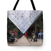 I M Pei Pyramid Inside The Louvre Entrance Tote Bag