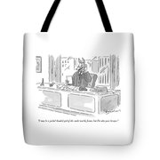 I May Be A Jackal-headed God Of The Underworld Tote Bag by Danny Shanahan
