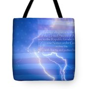 I Pledge Allegiance To The Flag  Tote Bag by James BO  Insogna