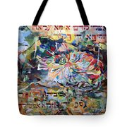 I Pray Before The Strong Exalted G D Who Commanded A Spider To Close Off The Face Of The Cave For Me Tote Bag