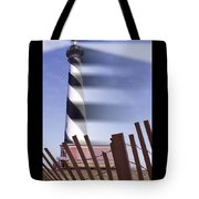 I Saw The Lighthouse Move Tote Bag