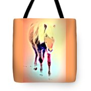 I Walk The Line And I Do It All By Myself  Tote Bag