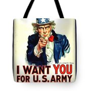 I Want You For U S Army Tote Bag