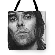 Ian Brown Pencil Drawing Tote Bag