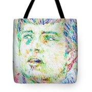 Ian Curtis Portrait Tote Bag