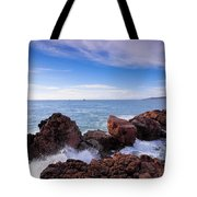 Ibiza Coastline Tote Bag
