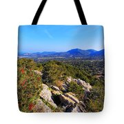 Ibiza Mountains Tote Bag