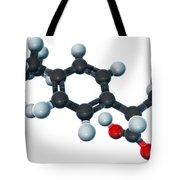 Ibuprofen, Molecular Model Tote Bag