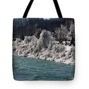 Ice Along The River Tote Bag