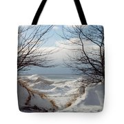 Ice Between The Trees Tote Bag