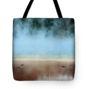 Ice Blue And Steamy Tote Bag