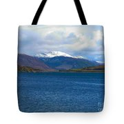 Ice Capped Mountains At Ullapool Tote Bag