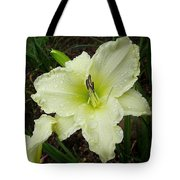 Ice Carnival Daylily Tote Bag