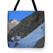 Ice Climbers In A Stark Contrast Tote Bag