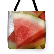 Ice Cold Watermelon Slices 1 Tote Bag by Andee Design