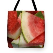Ice Cold Watermelon Slices 2 Tote Bag by Andee Design
