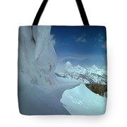 1m9340-ice Cornices, Jackson Hole Tote Bag