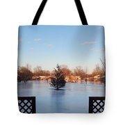 Satin Ice Covered Snow Tote Bag