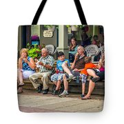 Ice Cream Eaters...an Observation Tote Bag