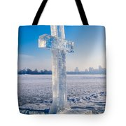 Ice Cross On The Frozen Dniepr Tote Bag