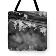 Ice Crystals Frozen In The River Tote Bag