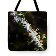 Ice Crystals In Morning Sun Tote Bag