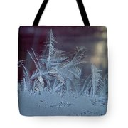 Ice Crystals Of Winter Tote Bag