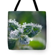 Ice Crystals With Stars Tote Bag