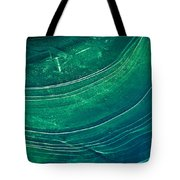 Ice Curve In Green Tote Bag