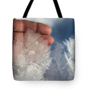 Ice Feathers Tote Bag