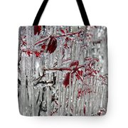 Ice Fence Tote Bag