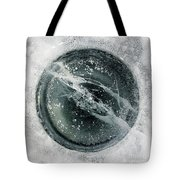 Ice Fishing Hole 8 Tote Bag