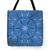 Ice Flower Fractal Tote Bag