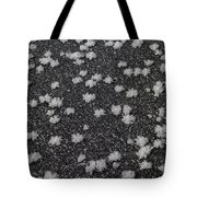 1m9335-ice Flowers On Black Ice Tote Bag