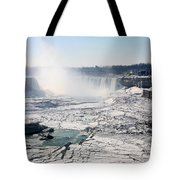 Ice Flows At Niagara Tote Bag