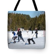 Ice Hockey Game Tote Bag