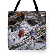 Ice Incased Leaves Tote Bag
