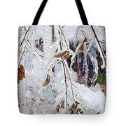 Ice Leaves Tote Bag